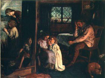 Bedtime 1862 | Arthur Hughes | oil painting