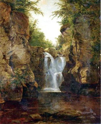 Bish Bash Falls 1855 60 | John Frederick Kensett | oil painting