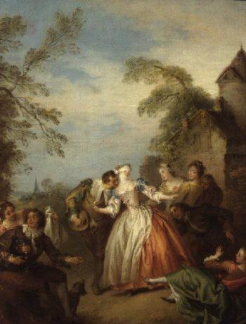 Blind Man's Buff 1730s | Jean Baptiste Joseph Pater | oil painting