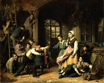 Blind Man's Buff | Edmond Castan | oil painting