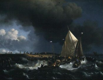 Boats in a Storm 1696 | Ludolf Backhuysen | oil painting