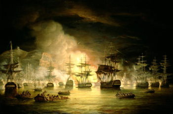 Bombardment of Algiers August 1816 1820 | Thomas Luny | oil painting