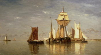 Calm on the Scheld 1867 | Paul Jean Clays | oil painting