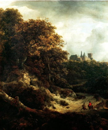 Castle at Bentheim 1651 | Jacob Isaaksz Isaacksz van Ruisdael | oil painting