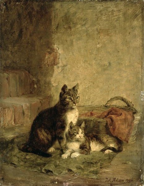 Cats 1883   Julius Adam   oil painting