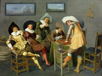 Cavaliers in a tavern | Dirck Hals | oil painting