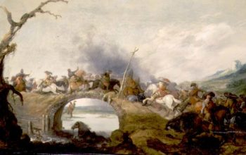Cavalry Battle on a Bridge | Anthonie Palamedesz | oil painting