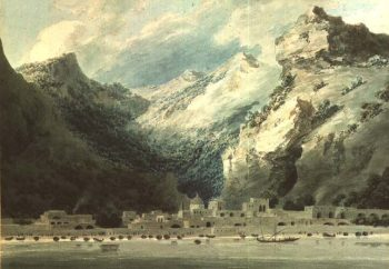 Cetera a Fishing Town on the Gulf of Salerno 1882 | John Robert Cozens | oil painting