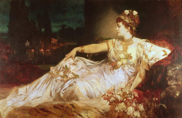 Charlotte Wolter as the Empress Messalina | Hans Makart | oil painting