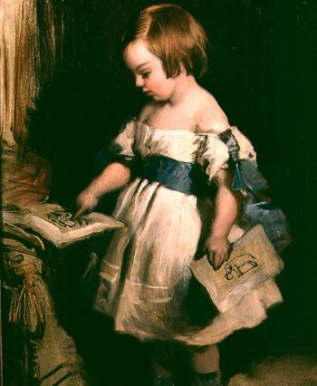 Child with a drawing | Sir Edwin Landseer | oil painting