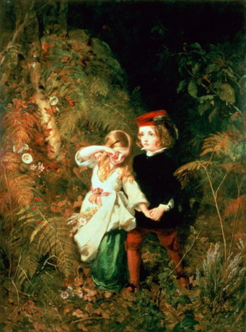 Children in the Wood | James Sant | oil painting