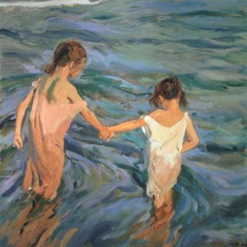 Children in the Sea 1909 | Joaquin Sorolla y Bastida | oil painting