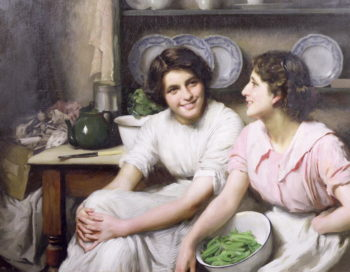 Chatterboxes 1912 | Thomas Benjamin Kennington | oil painting