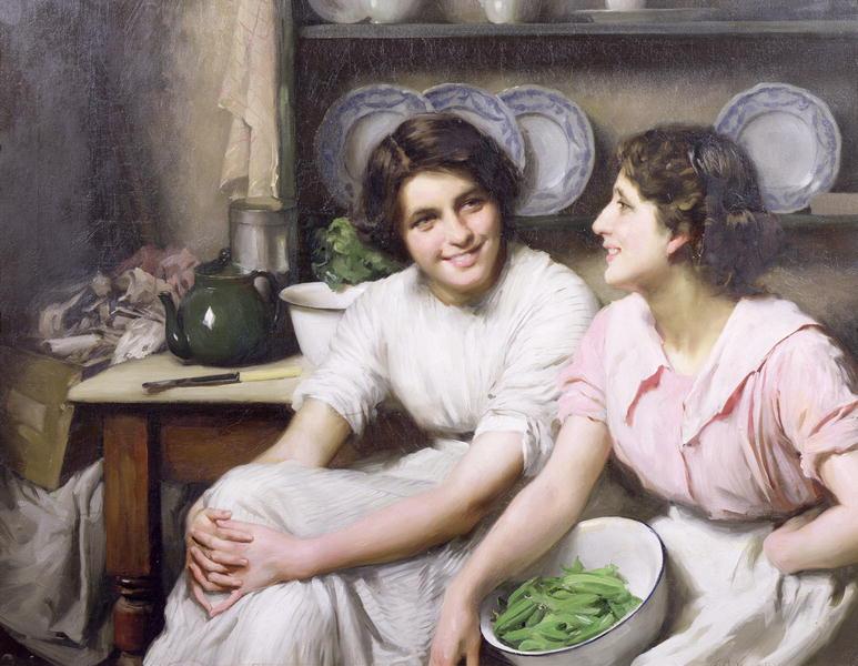 Chatterboxes 1912 | Thomas Benjamin Kennington | oil painting