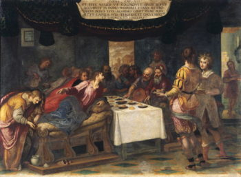 Christ in the House of Simon the Pharisee | Ludovico Cardi Cigoli | oil painting