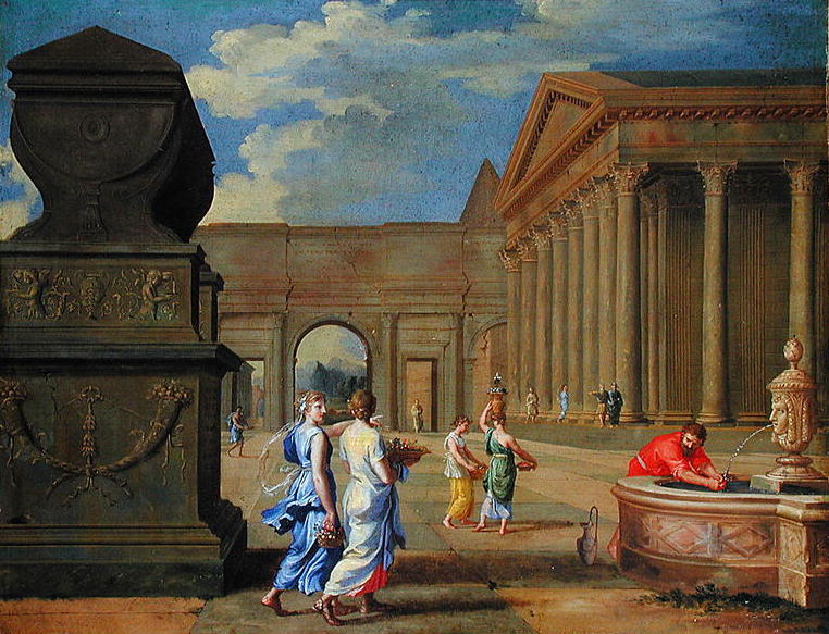 Classical Landscape   Jean Lemaire   oil painting