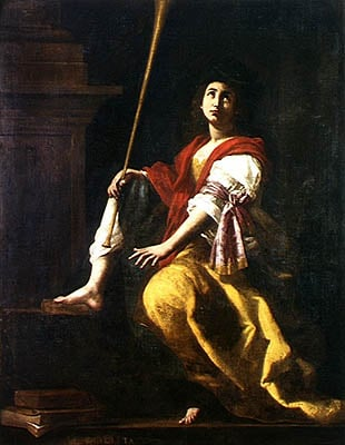 Clio Muse of History 1624 | Giovanni Baglione | oil painting