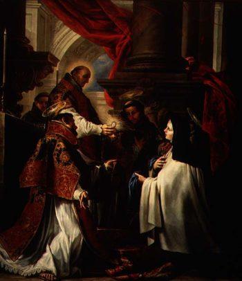 Communion of St Teresa of Avila | Claudio Coello | oil painting