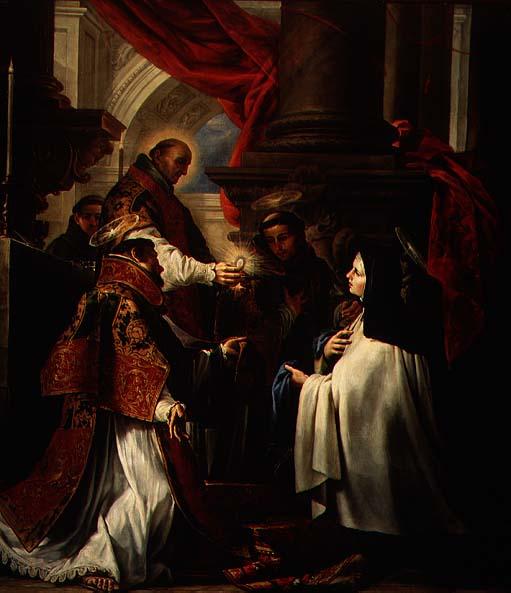 Communion of St Teresa of Avila   Claudio Coello   oil painting