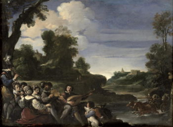Concert Champetre 1617   Guercino   oil painting