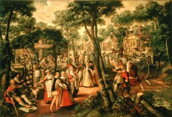 Country Celebration 1563 | Joachim Beuckelaer or Bueckelaer | oil painting