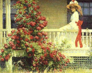 Crimson Rambler | Philip Leslie Hale | oil painting