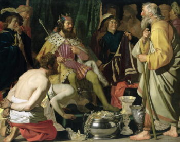Croesus and Solon 1624 | Gerrit van Honthorst | oil painting