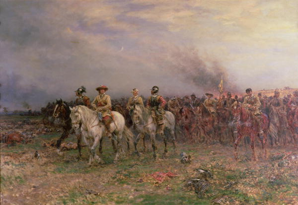 Cromwell after the Battle of Marston Moor | Ernest Crofts | oil painting