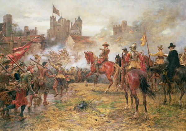 Cromwell at the Storming of Basing House 1900 | Ernest Crofts | oil painting