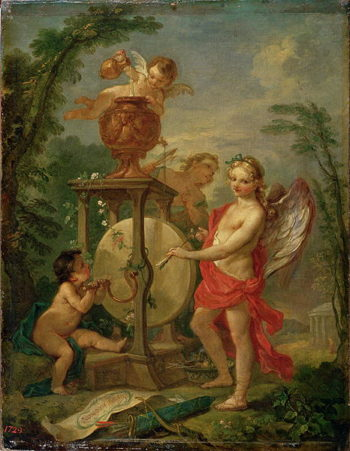 Cupid Sharpening his Arrow 1750 | Charles Joseph Natoire | oil painting