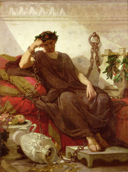Damocles 1866 | Thomas Couture | oil painting