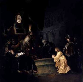 Daniel Before Nebuchadnezzar | Salomon Koninck | oil painting