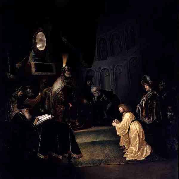 Daniel Before Nebuchadnezzar | Salomon Koninck | oil painting