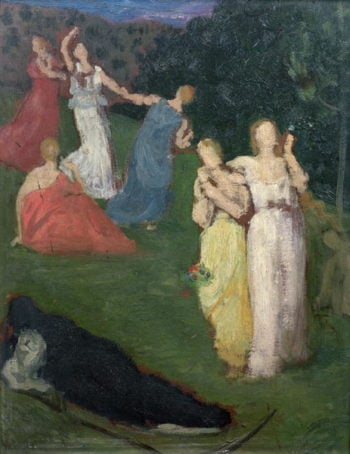 Death and the Maidens | Pierre Puvis de Chavannes | oil painting