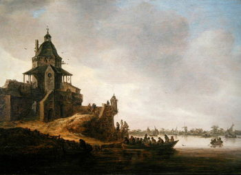 Dordrecht with Rondeel Engelenburg | Jan Josephsz van Goyen | oil painting
