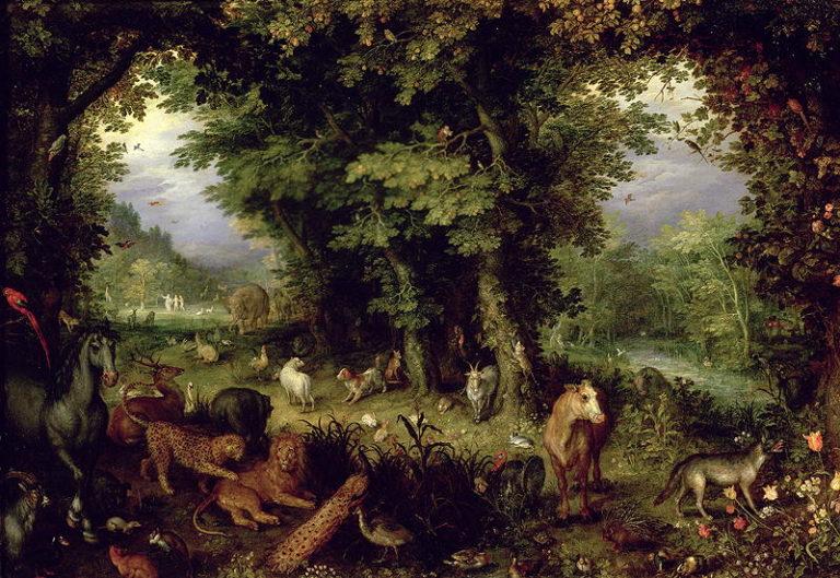 Earth or The Earthly Paradise 1607 08   Jan the Elder Brueghel   oil painting