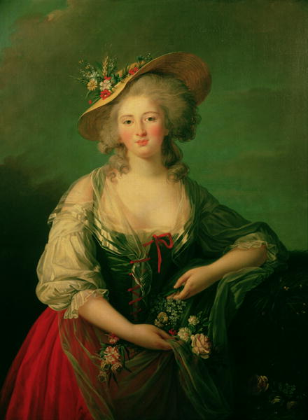 Elisabeth of France | Elisabeth Louise Vigee Lebrun | oil painting