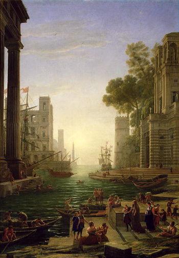 Embarkation of St Paula Romana at Ostia 1637 39 | Claude Lorrain | oil painting