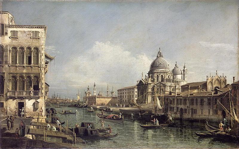 Entrance to the Grand Canal Venice | Bernardo Bellotto | oil painting