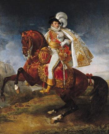 Equestrian Portrait of Jerome Bonaparte | Baron Antoine Jean Gros | oil painting