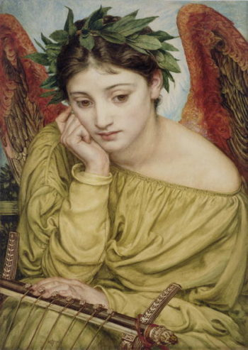 Erato Muse of Poetry 1870 | Sir Edward John Poynter | oil painting
