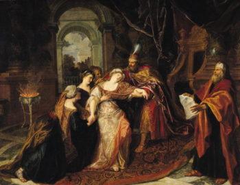 Esther before Ahasuerus before 1697   Antoine Coypel   oil painting
