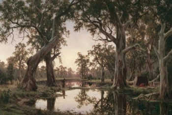 Evening Shadows Backwater of the Murray South Australia 1880 | Henry James Johnstone | oil painting