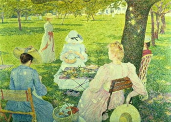 Family in the Orchard 1890 | Theo van Rysselberghe | oil painting