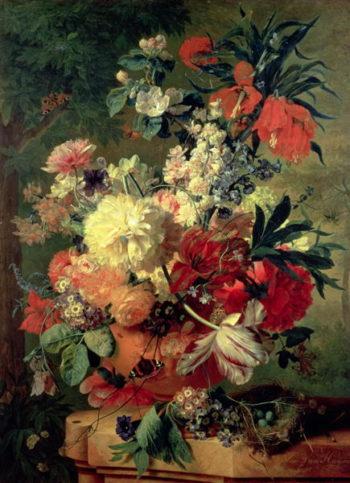 Flowers in a Vase 1726 | Jan van Huysum | oil painting