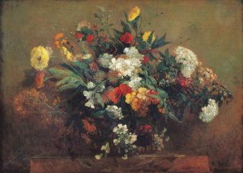 Flowers   Delacroix   oil painting