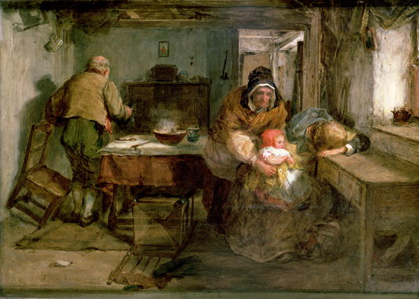 Forgiven 1874   Thomas Faed   oil painting