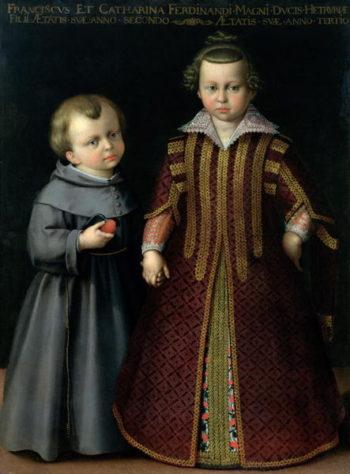 Francesco and Caterina de Medici | Cristofano Allori | oil painting