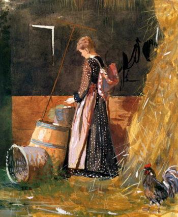 Fresh Eggs 1874 | Winslow Homer | oil painting