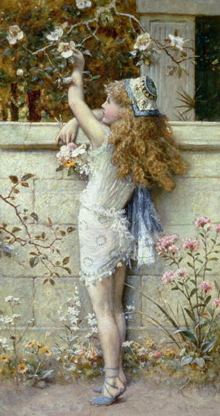 Gathering Flowers | William Stephen Coleman | oil painting